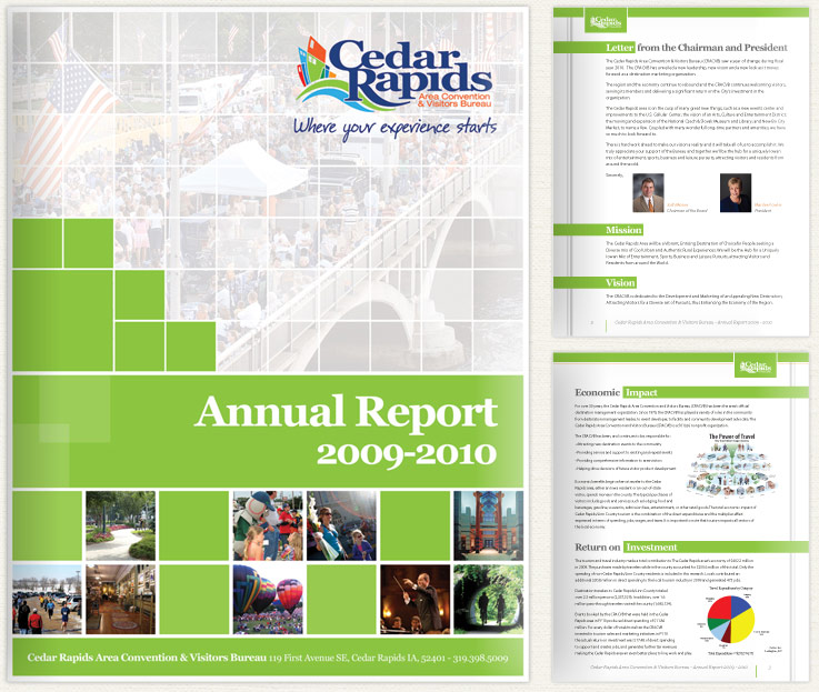 Our Work View Our Digital Print Web Projects: Cedar Rapids Annual Report