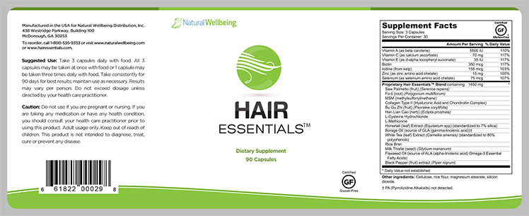 Hair Essentials Bottle Label | Sans Ink - Creative Web & Graphic Design
