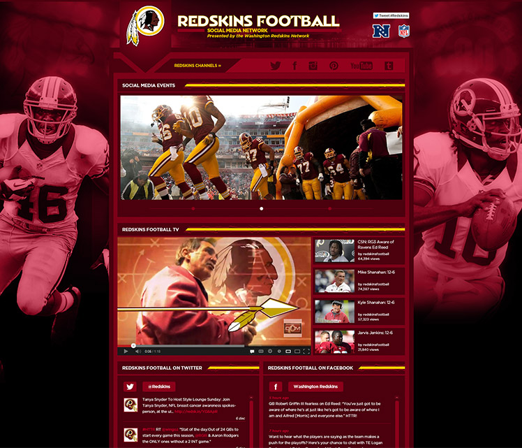 Washington Redskins Social Media Network Sans Ink